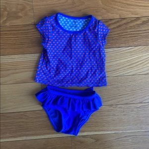 Baby two piece bathing suit